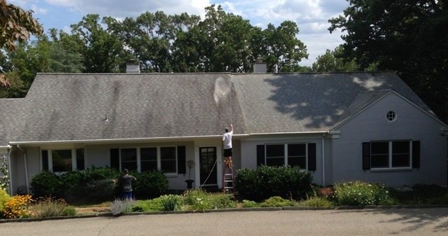soft wash roof cleaning in Delaware