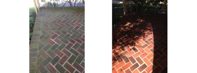 Clean pavers