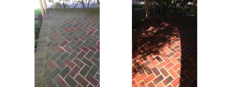Clean pavers