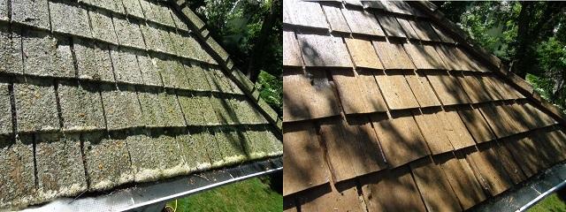 Beautiful Cedar Roof Cleaning