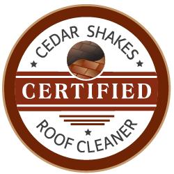 Certified cedar shakes roof cleaner