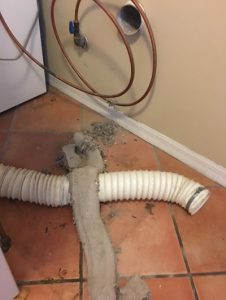 Lint in Pipe: This was pulled from vent pipe in wall
