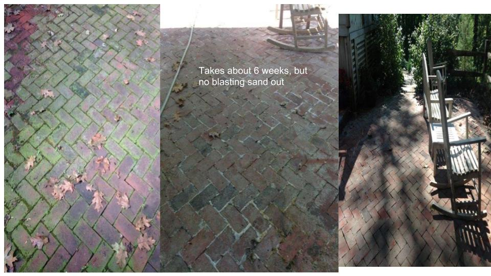 Safe paver cleaning
