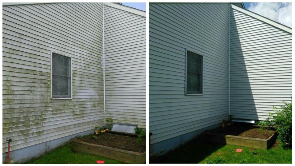 Vinyl siding cleaned