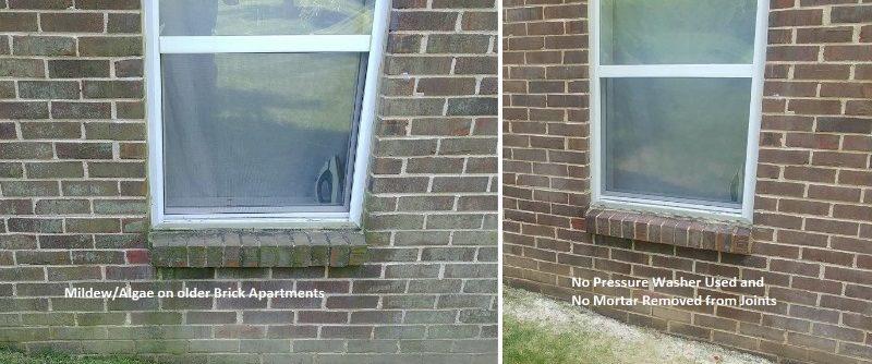 brick siding cleaned