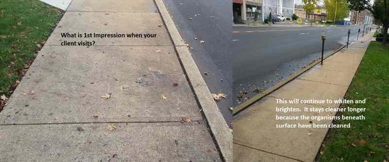 sidewalks cleaned